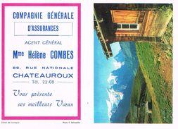 CALENDRIER Dépliant - Compagnie Générale D'Assurances à Châteauroux - 1967 - Calendriers