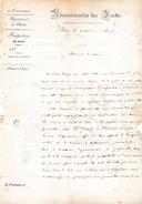 FOIX (09) 2 Mai 1846 - ADMINISTRATION DES FORÊTS - 2 Lettres - Bois De Construction Non Employé - Au Maire D'AX (09) - Documents Historiques