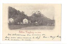 17917 - Schloss Lenzburg Von Osten  + Verso Schulhaus Cachets Lenzburg Et Montreux - AG Argovie