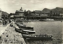 Como E Brunate (Lombardia) Lungo Lago (Lario) Con Barche Ormeggiate - Como