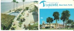 "Tropicana Resort Motel, 15645 Collins Avenue, Miami Beach, Florida   8.2"" X 3.5""  20.8 Cm X 9 Cm - Miami Beach"