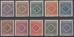 Taxe N° 31 Au N° 40 - X X - ( C 691 ) - Madagascar (1889-1960)
