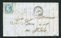 Lettre De La Gare De Nîmes Pour Le Havre ( 1870 ) - Cachet Ambulant CT2° - Marcophilie (Lettres)
