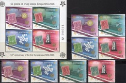 Perforiert 2006 CEPT 108/1,VB+Block 2A ** 64€ Hojitas Blocs Art S/s Waps Sheets Space M/s Bf Topics Stamp On Stamps - Montenegro