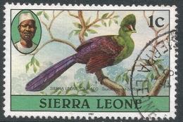 Sierra Leone. 1980 Birds. 1c Used (1981 Imprint Date) SG 622B - Sierra Leone (1961-...)