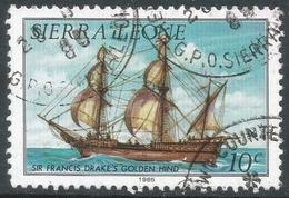 Sierra Leone. 1984 History Of Shipping. 10c Used (1985 Imprint Date) SG 822B - Sierra Leone (1961-...)
