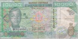 BILLETE DE LA REP. DE GUINEA DE 10000 FRANCOS DEL AÑO 2007 (BANKNOTE) - Guinea