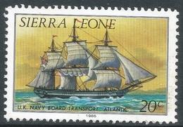 Sierra Leone. 1984 History Of Shipping. 20c Used (1985 Imprint Date) SG 824B - Sierra Leone (1961-...)