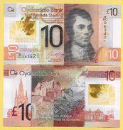 Scotland 10 Pounds P-new 2017 Clydesdale Bank UNC - Zonder Classificatie