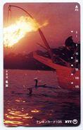 Coucher De Soleil Bateau Télécarte Telefonkarten Phonecard (D.160) - Bateaux