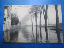 HAUTS DE SEINE    92     SAINT-CLOUD    -  INONDATION JANVIER 1910   -   LES QUAIS         ANIME     TTB - Saint Cloud