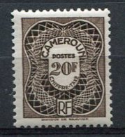 CAMEROUN - TAXE Yv. N° 34  *  10f   Cote  2,7  Euro  BE   2 Scans - Cameroun (1915-1959)