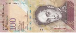 BILLETE DE VENEZUELA DE 100 BOLIVARES 23 DE JUNIO DEL 2015   (BANK NOTE) PAJARO - Venezuela