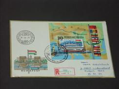 UNGARN HUNGARY  FDC 25.11.1981 (Michel Nr. 3521A - Block 153A) Europäische Donaukommission - FDC