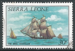 Sierra Leone. 1984 History Of Shipping. 30c Used (No Imprint Date) SG 826B - Sierra Leone (1961-...)