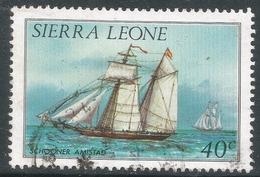 Sierra Leone. 1984 History Of Shipping. 40c Used (No Imprint Date) SG 827B - Sierra Leone (1961-...)