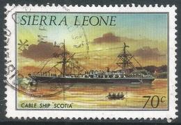 Sierra Leone. 1984 History Of Shipping. 70c Used (No Imprint Date) SG 829B - Sierra Leone (1961-...)