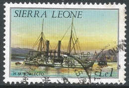 Sierra Leone. 1984 History Of Shipping.1l Used (1985 Imprint Date) SG 830B - Sierra Leone (1961-...)
