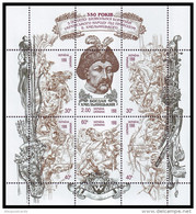 UKRAINE 1998. BOGDAN KHMELNYTSKYI. LIBERATION WAR. Mini-sheet Mi-Nr. 263-68 Klb. Mint (**) - Ukraine