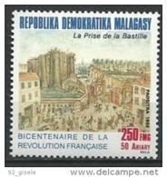 "Madagascar YT 921 "" Bicentenaire Revolution Francaise "" 1989 Neuf ** - Madagascar (1960-...)"
