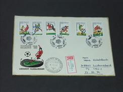 UNGARN HUNGARY  FDC 2.4.1986 (Michel Nr. 3814A - 3819A) Fussball-Weltmeisterschaft, Mexiko 1986 - World Cup