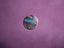 "COLLECTION JETON DE CADDIE ""SUPER U"" VAUCRESSON - Trolley Token/Shopping Trolley Chip"