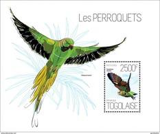 TOGO 2013 SHEET PARROTS PERROQUETS LOROS PAPAGAIOS PAPAGEIEN PAPPAGALLI BIRDS OISEAUX AVES Tg13618b - Togo (1960-...)