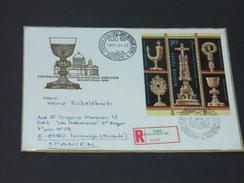 UNGARN HUNGARY  FDC 28.4.1987 (Michel Nr. 3895A - Block 188A) Wiedereröffnung Der Schatzkammer Des Doms Von Esztergom - FDC