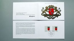 """Deutschland Erinnerungsblatt """" Wappen Der Länder Bremen"""" Mit Bund 1590 ESST Bonn - Storia Postale"""
