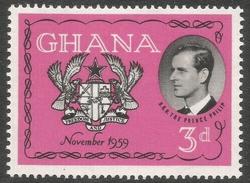 Ghana. 1959 Visit Of The Duke Of Edinburgh To Ghana. 3d MH. SG 233 - Ghana (1957-...)