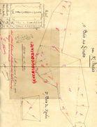 87- SAINT LEONARD 23 JUIN 1923- PLAN COUPES BOIS TAILLIS VENDUS A M. LACOUCHE PAR M. DURIS EYMOUTIERS-SIGNATURE NANEIX - Old Paper