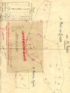 87- SAINT LEONARD 23 JUIN 1923- PLAN COUPES BOIS TAILLIS VENDUS A M. LACOUCHE PAR M. DURIS EYMOUTIERS-SIGNATURE NANEIX - Vieux Papiers