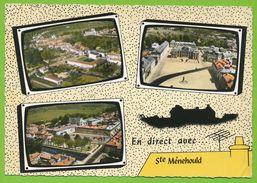 STE-MENEHOULD Groupe Scolaire Panoramique Château Place Gal Leclerc Hôtel De Ville Pont Aisne Place Austerlitz - Sainte-Menehould