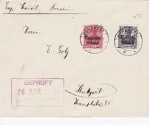 ROUMANIE 1948 LETTRECENSUREE DE BUCAREST AVEC TIMBRES ALLEMANDS  SURCHARGES - Lettres & Documents
