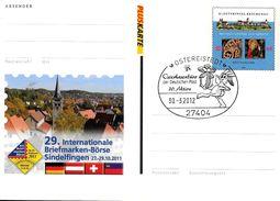 ALLEMAGNE Carte  PAP 2012  30 3 Ostereistedt Lapin Lievre Papillon - Konijnen