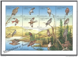 Georgie - Georgia 1996 Yvert 175-190, Fauna. Diurnal And Nocturnal Raptors - MNH - Georgia