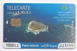 Palm Island 2010 Used Phonecard Lebanon , Liban Telecarte Libanon - Lebanon