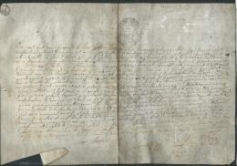 Cachet Généralité De Paris Sur Document ( Vessie De Porc ) Daté En 1760, On Joint Un Extrait De Registre    Phi 252 - Historical Documents