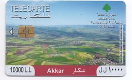 Akkar 2010 Used Phonecard Lebanon , Liban Telecarte Libano - Lebanon