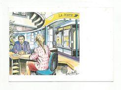 L'ACCUEIL A LA POSTE - DESSIN DE ROLAND IROLLA - Other Illustrators