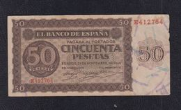 EDIFIL 420a.   50 PTAS 21 DE NOVIEMBRE DE 1936 SERIE E. CONSERVACIÓN MBC - [ 3] 1936-1975 : Régence De Franco