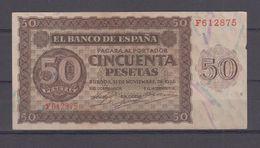 EDIFIL 420a.   50 PTAS 21 DE NOVIEMBRE DE 1936 SERIE F. CONSERVACIÓN MBC+ - [ 3] 1936-1975 : Régence De Franco