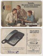 TELECARTE 120 UNITES TELEPHONE RONDO ON PEUT TOUS ECOUTER LA CONVERSATION - FRANCE TELECOM - 10 91 - 1 000 000 EX - Téléphones