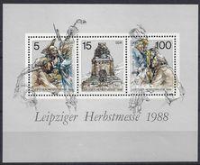 Germany (DDR) 1988 Leipziger Herbstmesse (**) MNH  Mi.3193-3195 (block 95) - DDR