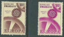 1967 RWANDAISE MOSTRA FILATELICA EUROPA A NAPOLI MNH ** - R35-10 - Rwanda