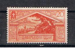 REGNO:  1930  VIRGILIO  -  20 C. ARANCIO  S.G. -  SASS. 283 - 1900-44 Vittorio Emanuele III