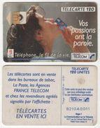 TELECARTE 120 TELEPHONE LE FIL DE LA VIE - VOS PASSIONS ONT LA PAROLE - J. O. ALBERTVILLE 1992 - 12 91 - 1 000 000 EX - Jeux Olympiques