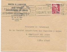 LETRE 1954 AVEC TIMBRE A SURCHARGE 15 FR SUR 18 FR AU TYPE MARIANNE DE GANDON - Marcophilie (Lettres)
