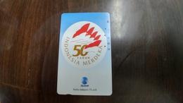 Indonesia-(s304)-peringatan 50 Tahun Kemerdekaan Indonesia-(75units)-used - Indonesia