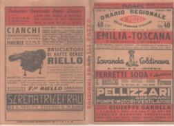 VENDO LIBRETTO ORARIO REGIONALE EMILIA-TOSCANA E PROV.LIMITROFE DELLE FERROVIE ITALIANE - TRANVIE-NAVIGAZIONE MARITTIMA - Italia